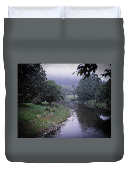 Quiet Stream- Woodstock, Vermont Duvet Cover
