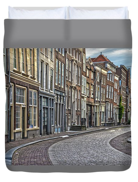 Quiet Street In Dordrecht Duvet Cover