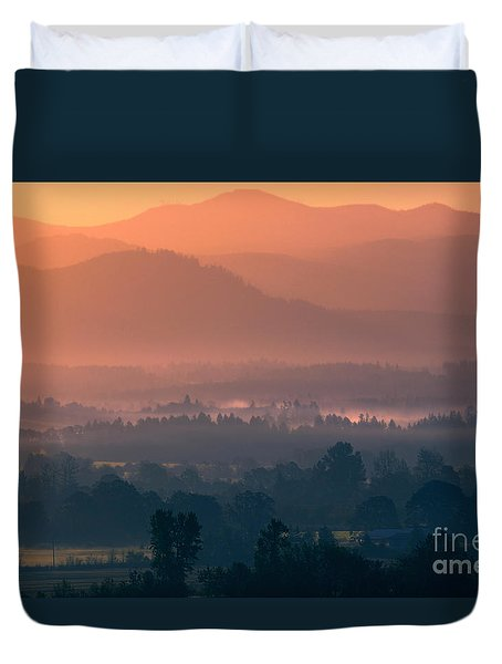 Quiet Sunrise Duvet Cover by Erica Hanel