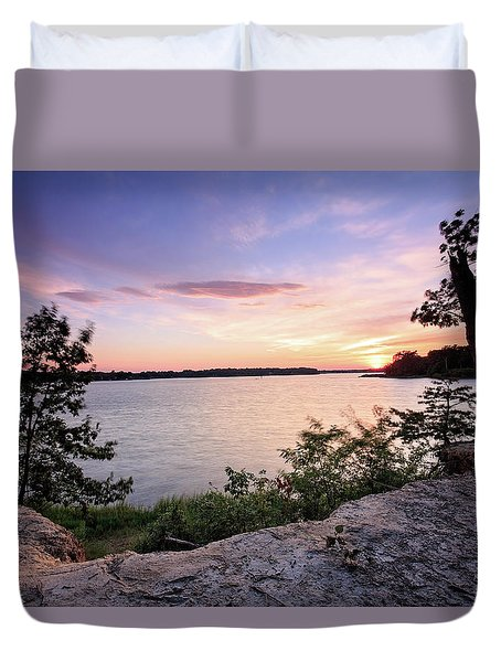 Duvet Cover featuring the photograph Quiet Sunset by Jennifer Casey