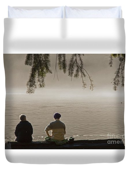 Duvet Cover featuring the photograph Quiet Time by Inge Riis McDonald