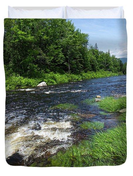 Quill Pond Brook Near Rangeley Maine  -70748 Duvet Cover