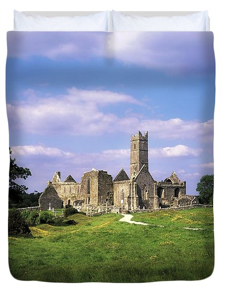 Quin Abbey, Quin, Co Clare, Ireland Duvet Cover by The Irish Image Collection