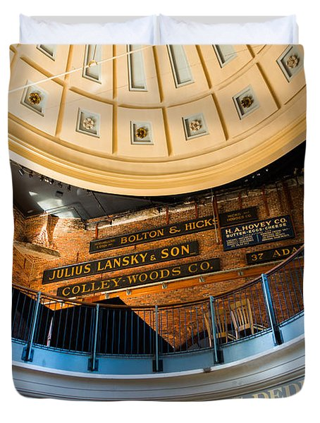 Quincy Market Vintage Signs Duvet Cover