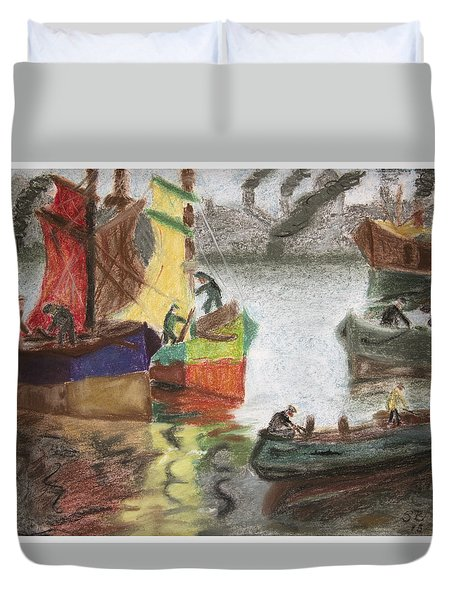 La Boca Caminito Duvet Cover