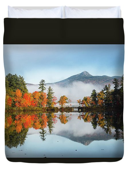 Mount Chocorua Fall Reflection Duvet Cover