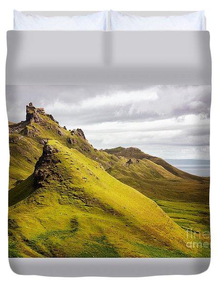 Quiraing Mountains Duvet Cover