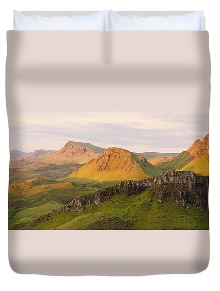 Quiraing Panorama Duvet Cover
