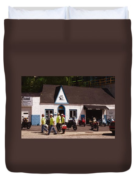 Quitting Time Duvet Cover