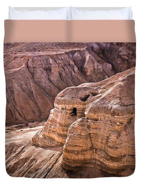 Qumran Cave 4, Israel Duvet Cover