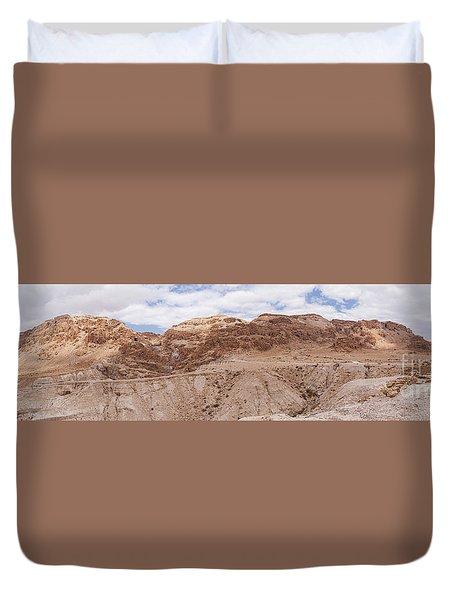 Duvet Cover featuring the photograph Qumran National Park by Yoel Koskas