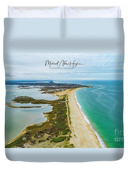 Quonochontaug Beach Duvet Cover