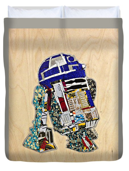 R2-d2 Star Wars Afrofuturist Collection Duvet Cover by Apanaki Temitayo M