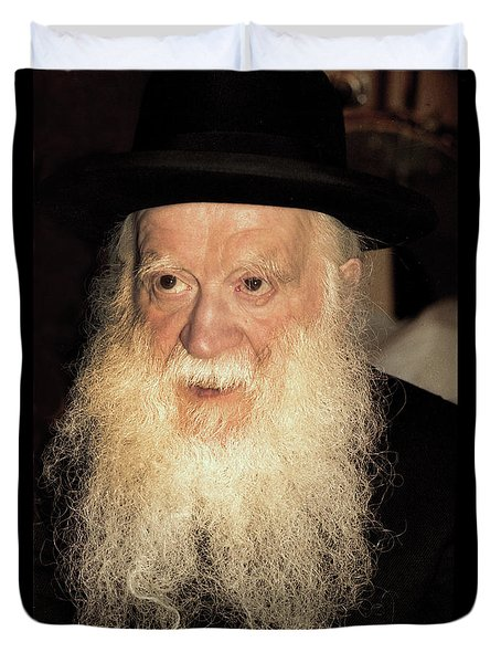 Duvet Cover featuring the photograph Rabbi Yehudah Zev Segal by Doc Braham