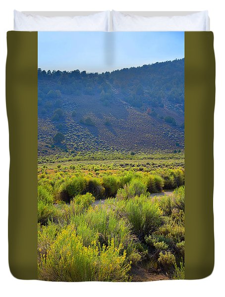 Rabbit Brush In Bloom Duvet Cover