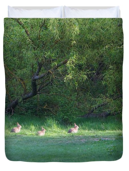 Rabbit Meadow Duvet Cover