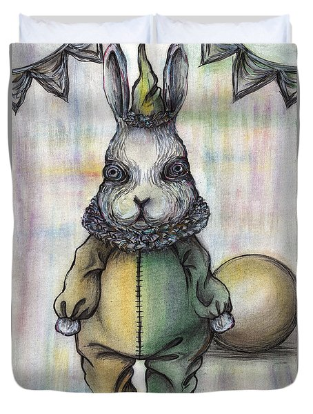 Rabbit Pierrot Duvet Cover