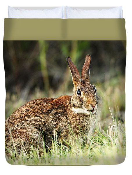 Rabbit Portrait Duvet Cover
