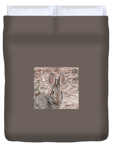 Rabbit Stare Duvet Cover