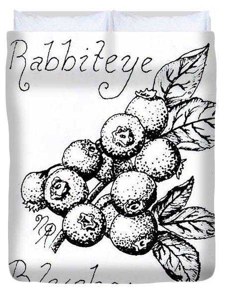 Rabbiteye Blueberry Duvet Cover