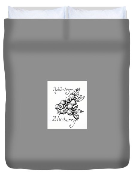 Rabbiteye Blueberry Duvet Cover