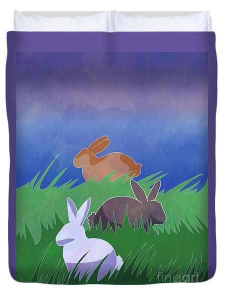 Rabbits Rabbits Rabbits Duvet Cover