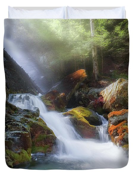 Duvet Cover featuring the photograph Race Brook Falls 2017 by Bill Wakeley