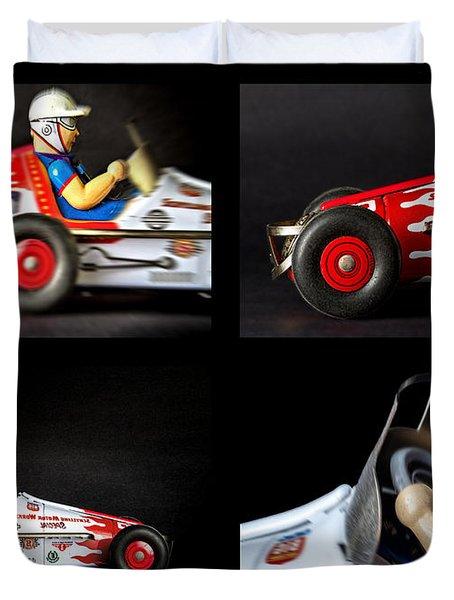 Race Car Collage Duvet Cover