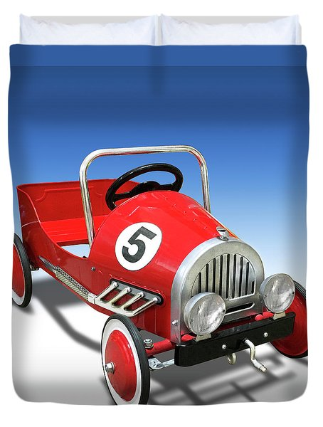 Duvet Cover featuring the photograph Race Car Peddle Car by Mike McGlothlen