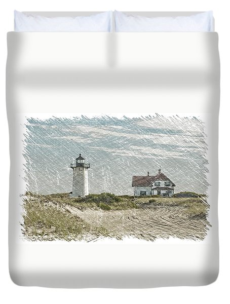 Race Point Lighthouse Duvet Cover by Paul Miller