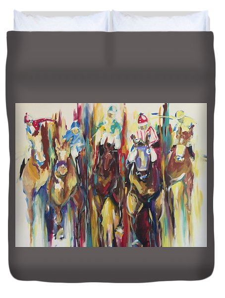 Race Track Duvet Cover