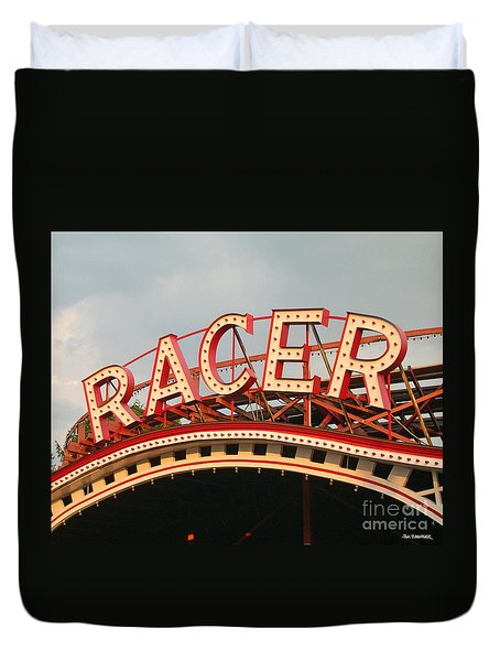Racer Coaster Kennywood Park Duvet Cover
