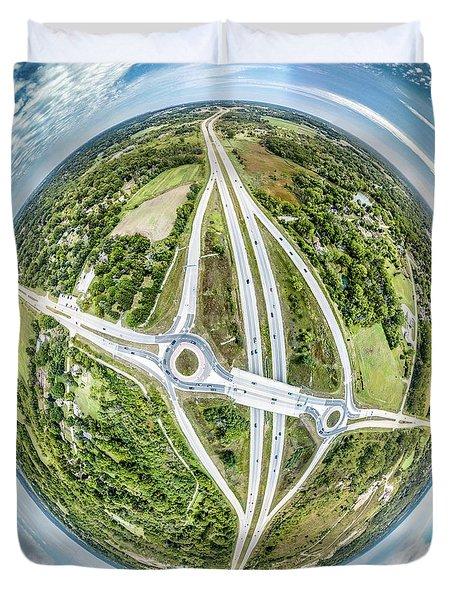 Duvet Cover featuring the photograph Racine Avenue by Randy Scherkenbach