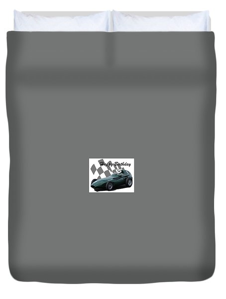 Racing Car Birthday Card 5 Duvet Cover by John Colley