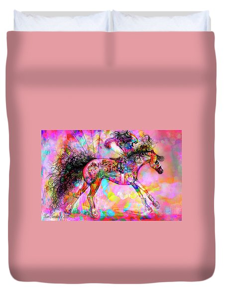 Racing For Time Duvet Cover