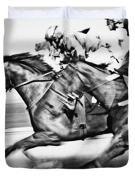 Racing Horses Duvet Cover