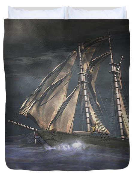 Racing The Storm Duvet Cover