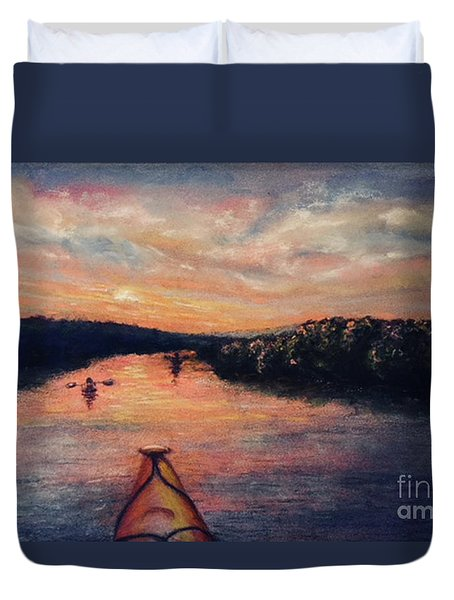 Racing The Sunset Duvet Cover