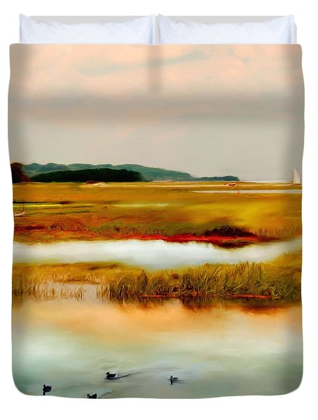Racing The Tide Duvet Cover