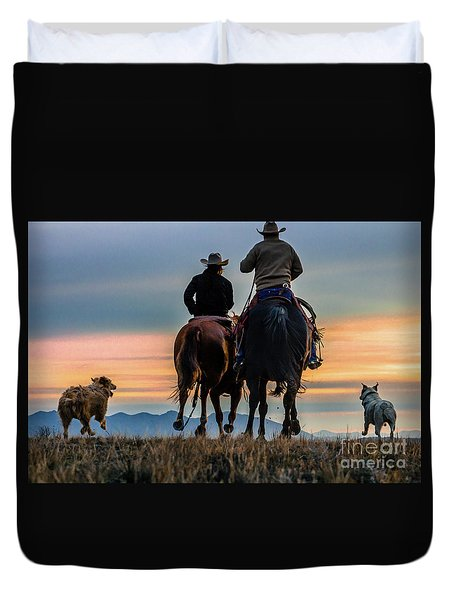 Racing To The Sun Wild West Photography Art By Kaylyn Franks Duvet Cover