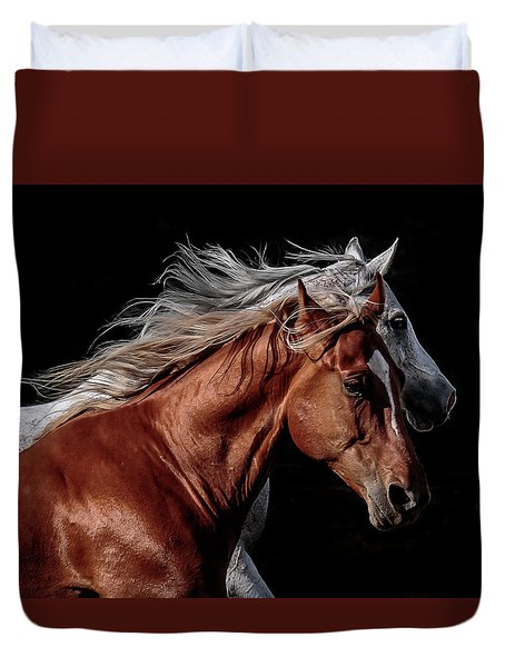 Racing With The Wind Duvet Cover