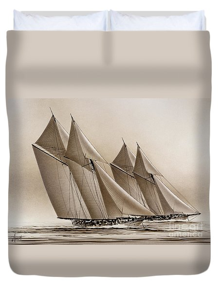 Racing Yachts Duvet Cover