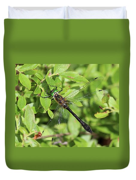 Racket-tailed Emerald  Duvet Cover