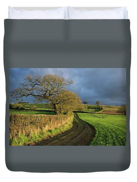 Raddon Top In Mid Devon Duvet Cover