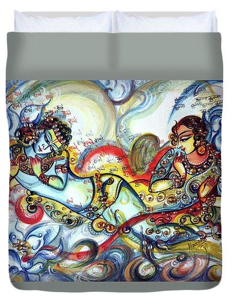 Radha Krishna - Flute - Love Duvet Cover