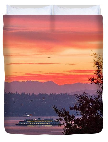 Radiance At Sunrise Duvet Cover