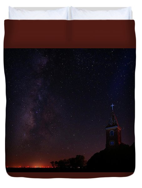 Duvet Cover featuring the photograph Radiant Light by Jonathan Davison