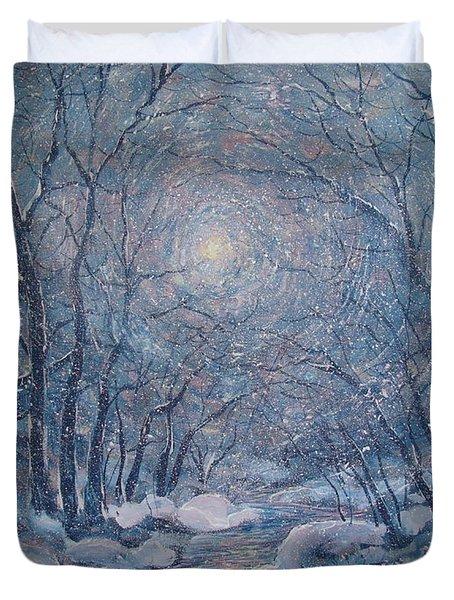 Radiant Snow Scene Duvet Cover
