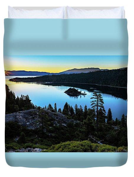 Radiant Sunrise On Emerald Bay Duvet Cover