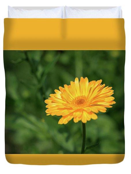 Radiant Summer Flower Soaking It Up Duvet Cover